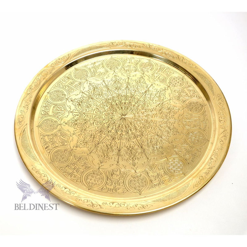 "19"" Moroccan Brass Tray"