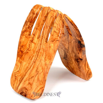 Wooden Salad Hands: Olive Wood Salad Hands