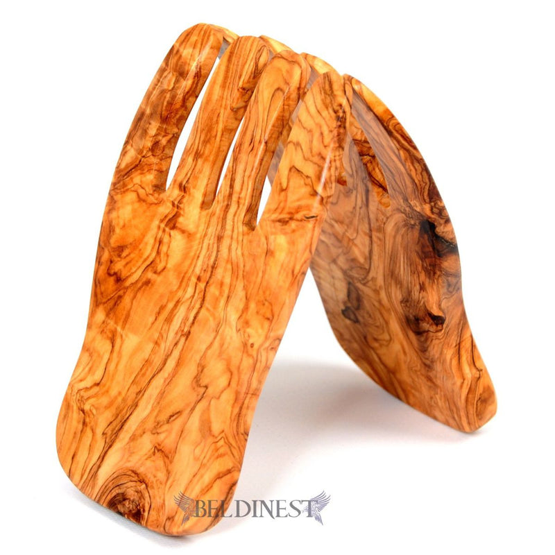 Wooden Salad Claws Made of Olive Wood