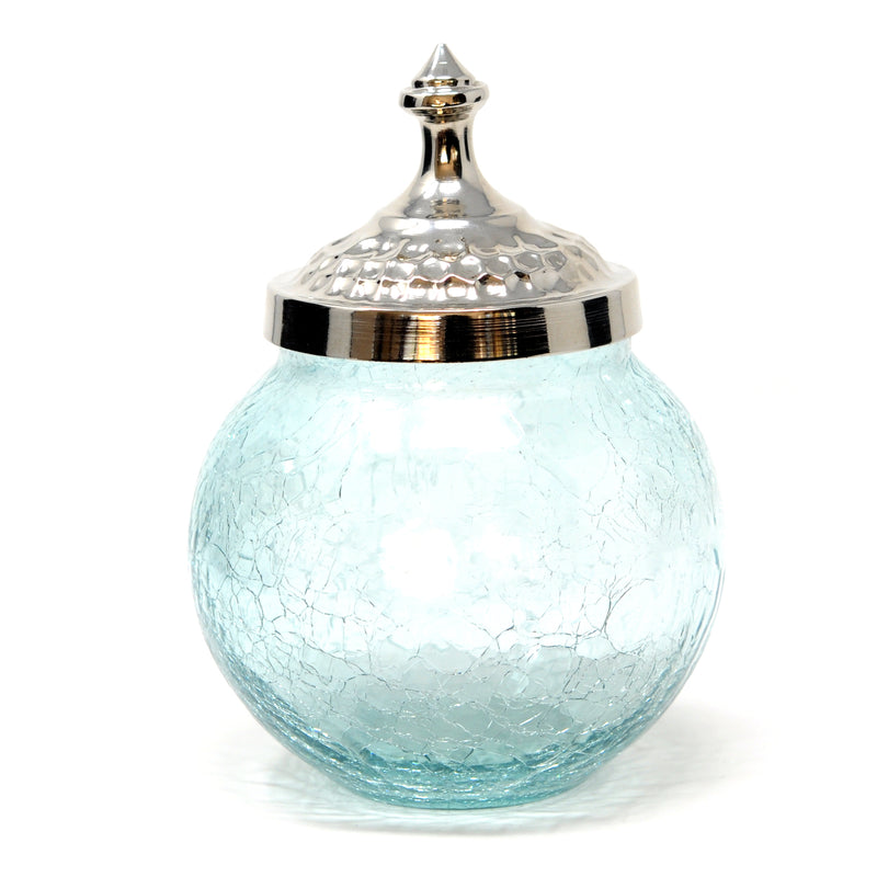 Carafe Hand Blown Crackle Glass Decanter