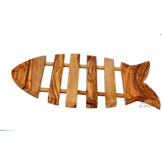 Olive Wood Trivet- Fish Shape