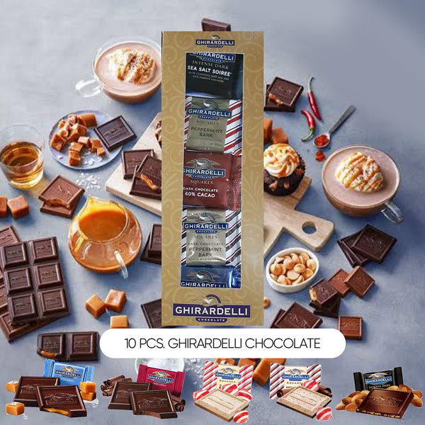 10 pcs. Ghirardelli Chocolate - 1 Box