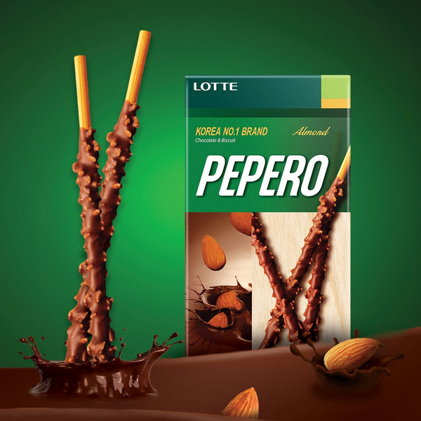 Korean Pepero Almond & Chocolate - 37g