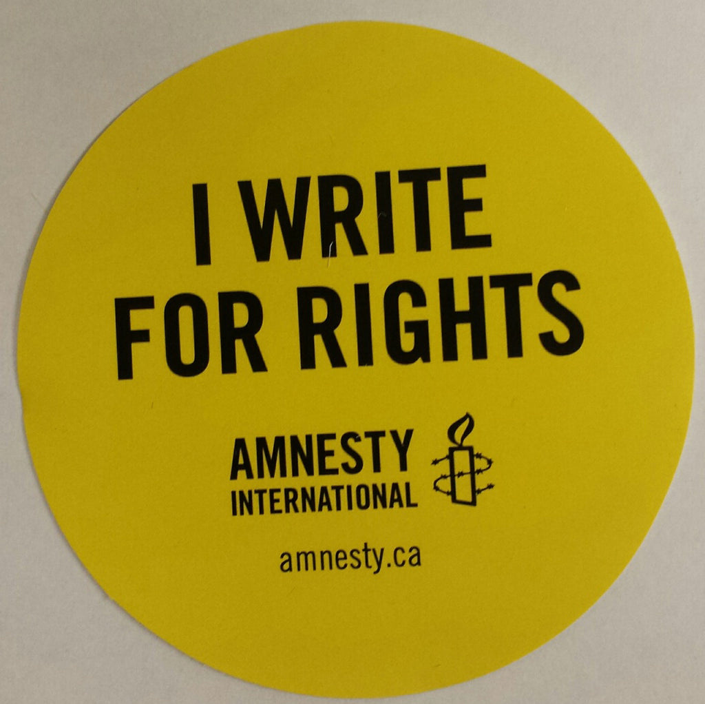 2018 Write For Rights Stickers (Bundle of 10) (Limit of 5 Bundles per event)