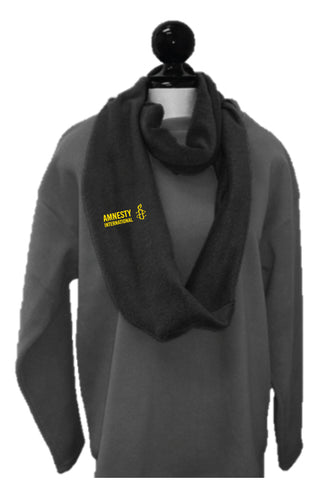 Black Fleece Infinity Scarf (Amnesty Brand)