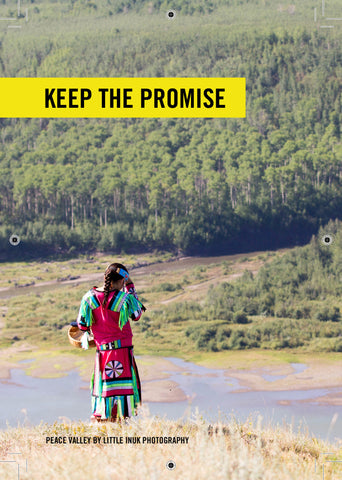 """KEEP THE PROMISE"" Site C Dam Postcard (Bundle of 10)"