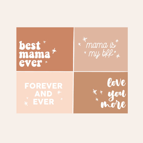Mama Digital Art Tags (Neutral)