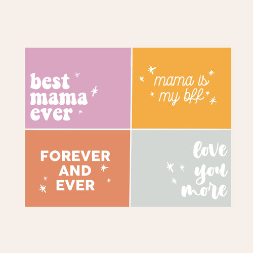 Mama Digital Art Tags (Vibrant)