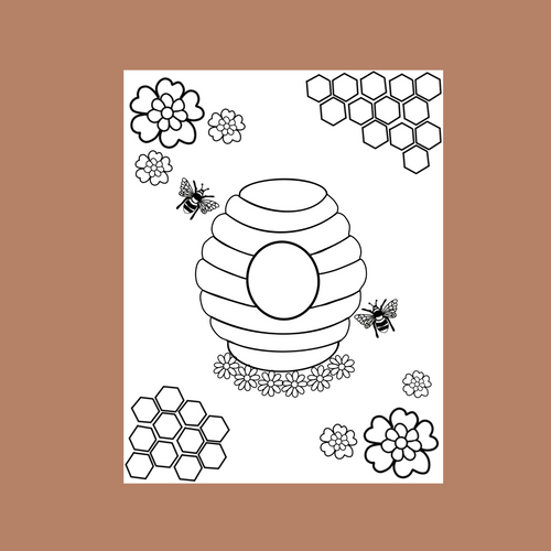 Bee Kind Coloring Page
