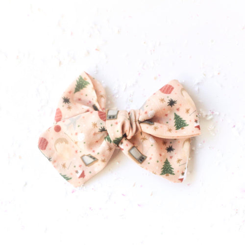 """Home Alone"" Midi Holiday Bow"