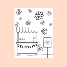 Load image into Gallery viewer, Lemonade Stand Coloring Page