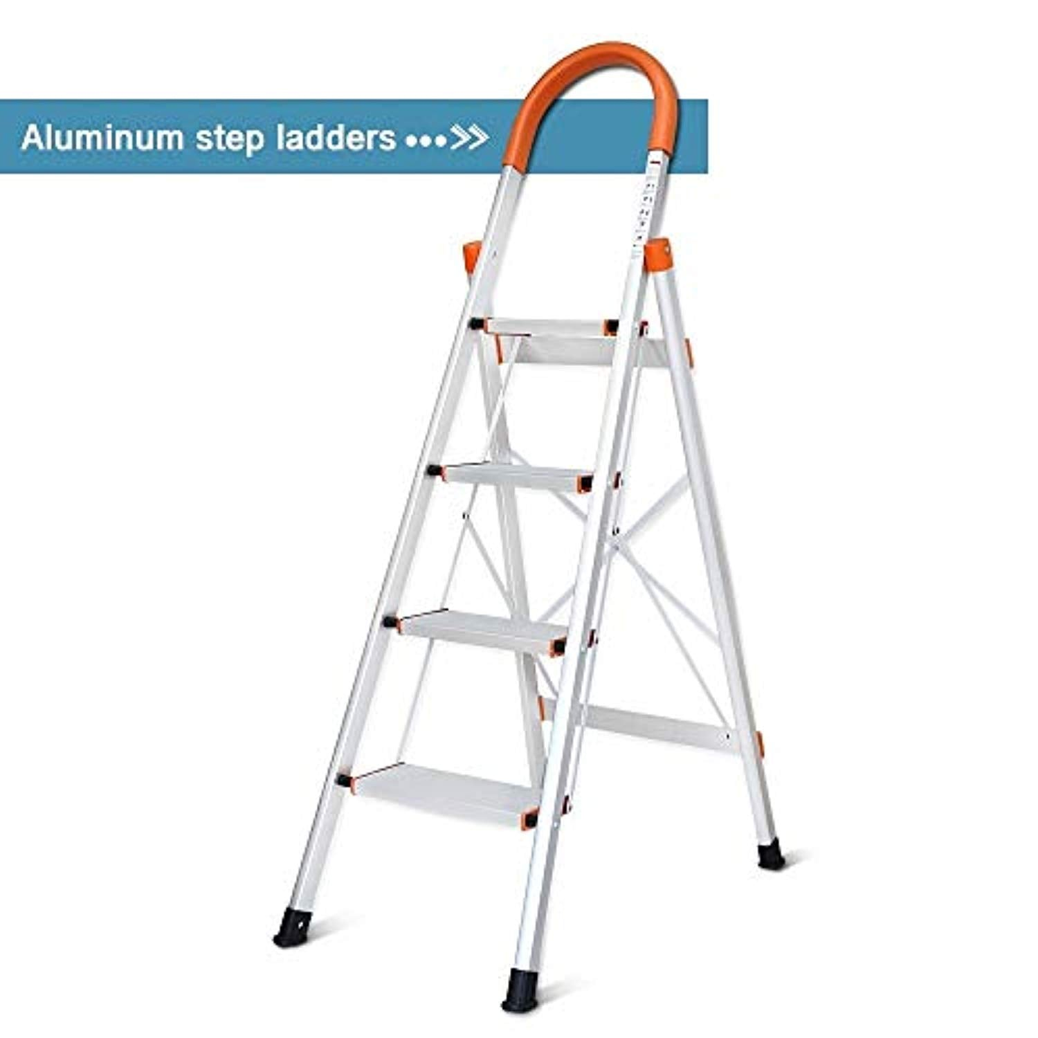Swell Dgcus Lightweight Aluminum 4 Step Ladder Folding Step Stool 5 Foot Stepladders Home And Kitchen Anti Slip Sturdy And Wide Pedal Ladders 300Lbs Pabps2019 Chair Design Images Pabps2019Com