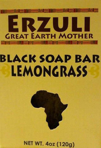 ERZULI BLACK SOAP 4 OZ - LEMON GRASS