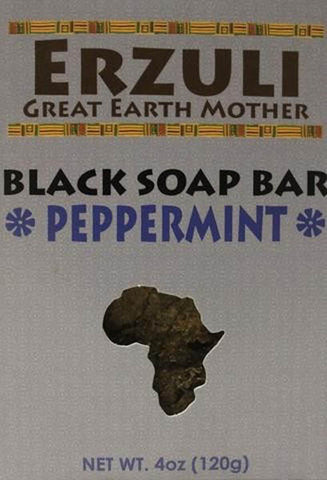 ERZULI BLACK SOAP 4 OZ - PEPPERMINT