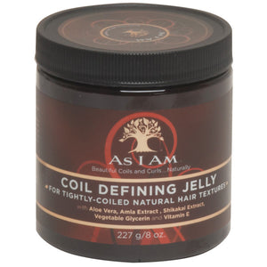 As I Am COIL DEFINING JELLY for NATURAL HAIR TEXTURE 8 Oz
