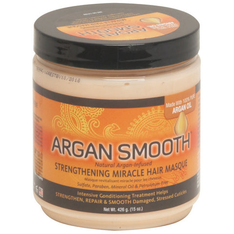 Argan Smooth STRENGTHENING MIRACLE HAIR MASQUE 15 Oz