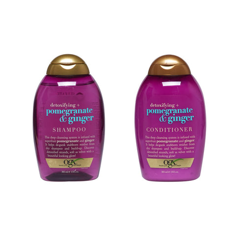 OGX Detoxifying + Pomegranate & Ginger SHAMPOO & CONDITIONER (13 Oz Combo Set)