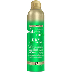 OGX Refresh Scelp+ TEATREE MINT Extra Strength  DRY SHAMPOO 5 Oz