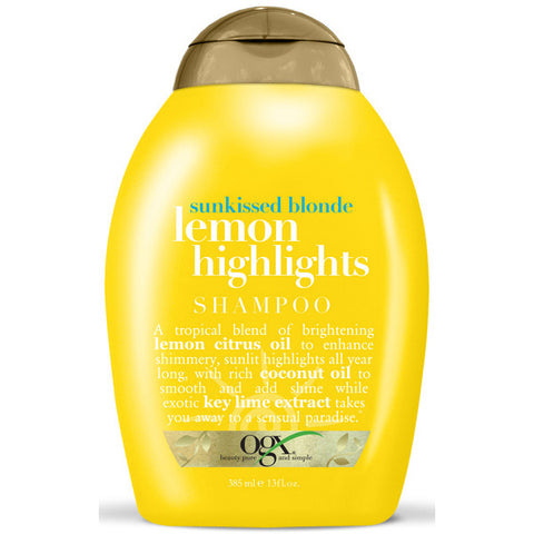 OGX Sunkissed Blonde LEMON HIGHLIGHTS SHAMPOO 13 Oz*