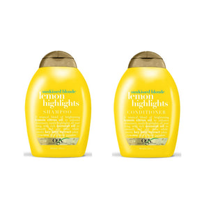 OGX Sunkissed Blonde LEMON HIGHLIGHTS SHAMPOO & CONDITIONER (13 Oz* Combo Set)