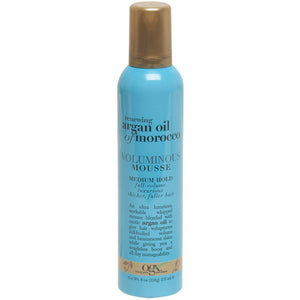 OGX Renewing Argan Oil of Morocco Voluminous Mousse, Medium Hold 8 Oz