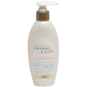 OGX Quenching+ COCONUT CURLS Frizz-Defying CURL STYLING MILK 6 Oz.