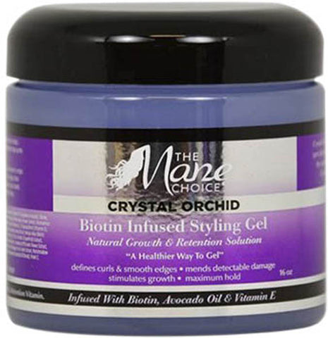 MANE CHOICE CRYSTAL ORCHID BIOTIN INFUSED STYLING GEL 16 OZ