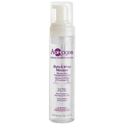 APHOGEE STYLE & WRAP FOAM MOUSSE 8.5 OZ