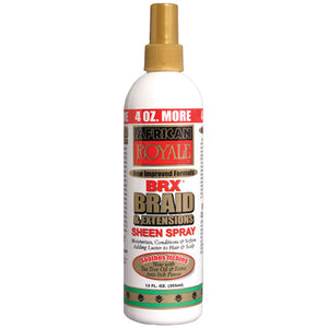 B&B African Royale BRX Braid & Extensions Sheen Spray 12 Oz