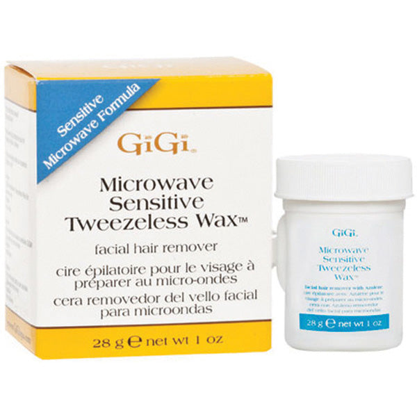 GIGI MICROWAVE TWEEZELESS WAX - NORMAL or SENSITIVE 1 OZ
