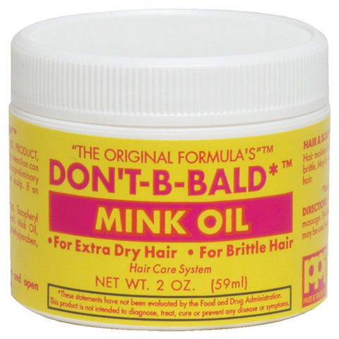 DONT BE BALD MINK OIL 2 Oz* or 4 Oz