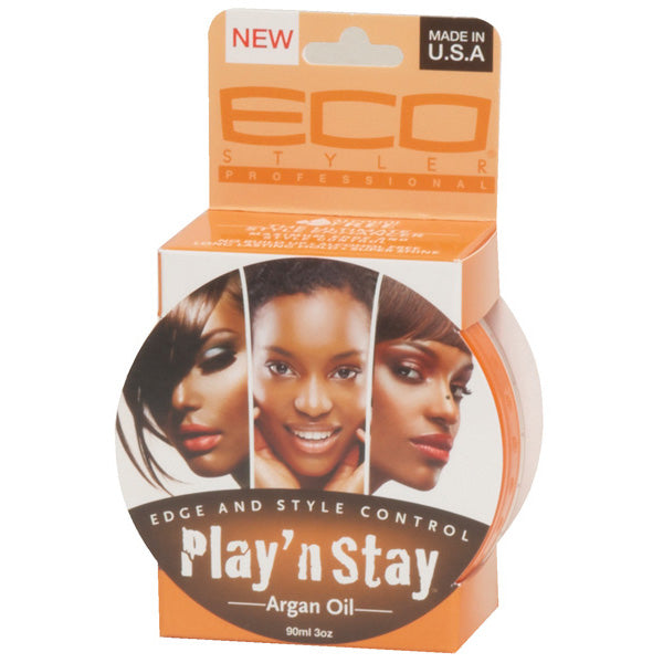 ECO EDGE GEL PLAY N STAY EDGE ARGAN OIL 3 OZ YELLOW