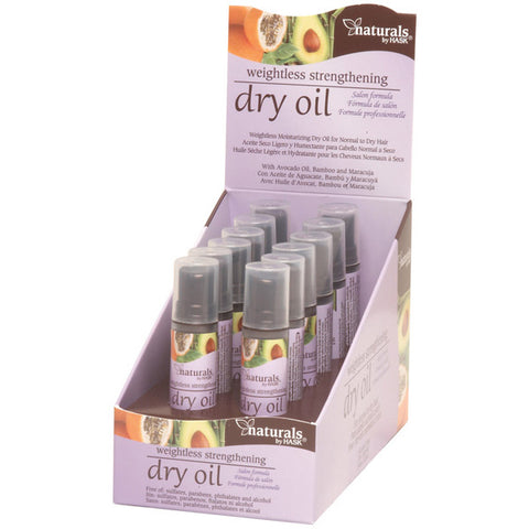 HASK NATURAL STRENGTH DRY OIL 0.5 Oz (12P)