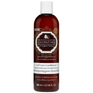 Hask Coconut Milk & Organic Honey Curl Care SHAMPOO 12 Oz