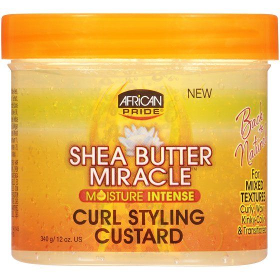 African Pride Shea Miracle CURL STYLING CUSTARD 12 Oz - All Products - Express Beauty USA