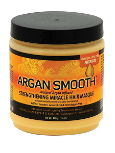 Argan Smooth STRENGTHENING MIRACLE HAIR MASQUE 15 Oz - All Products - Express Beauty USA