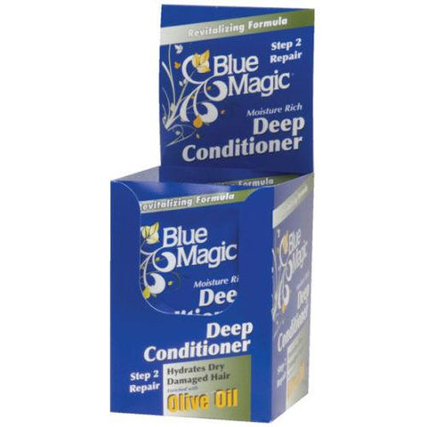 Blue Magic DEEP CONDITIONER OLIVE OIL (STEP 2) 1.75 Oz (12 Pack) - Hair Care Products - Express Beauty USA
