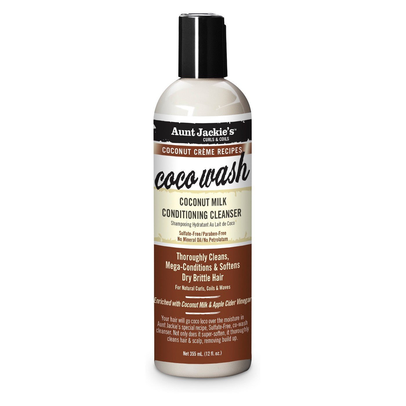 Aunt Jackie's Coconut MILK CONDITIONING CLEANSER 12 Oz - All Products - Express Beauty USA