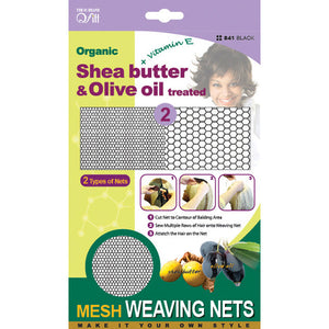 [PACK OF 6] Qfitt Shea Butter & Olive Oil Treated Stretch Weaving Nets