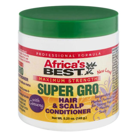 Africa's Best Super Gro  Maximum Strength Hair & Scalp Conditioner 5.25 Oz - All Products - Express Beauty USA