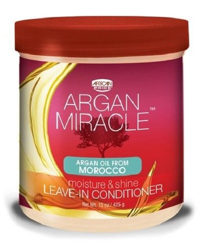African Pride Argan Miracle LEAVE-IN CONDITIONER MOISTURE AND SHINE 15 Oz - Hair Care Products - Express Beauty USA