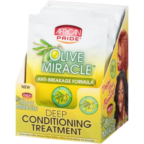 African Pride Olive Miracle DEEP CONDITIONING TREATMENT WHOLE 1.5 Oz [DISP 6PCS] - Treatment - Express Beauty USA