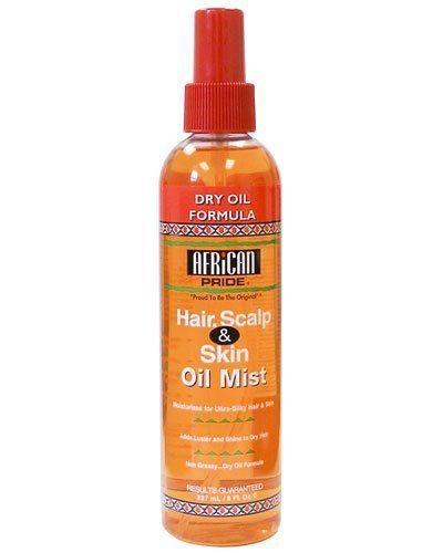 African Pride DRY OIL FORMULA FOR HAIR SCALP SKIN OIL MIST 8 Oz - Skin & Hair - Express Beauty USA