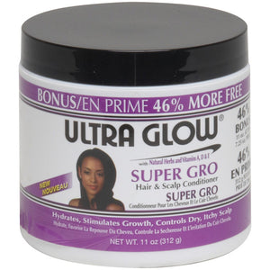 ULTRA GLOW HAIR SUPER GRO HAIR & SCALP CONDITIONER 11 OZ*