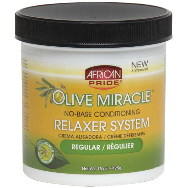 African Pride Olive Miracle NO-BASE CONDITIONING RELAXER 15 Oz
