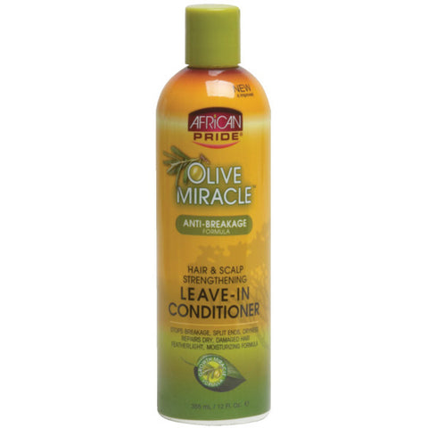 AFRICAN PRIDE OLIVE/M LEAVE IN CONDITIONER 12 OZ