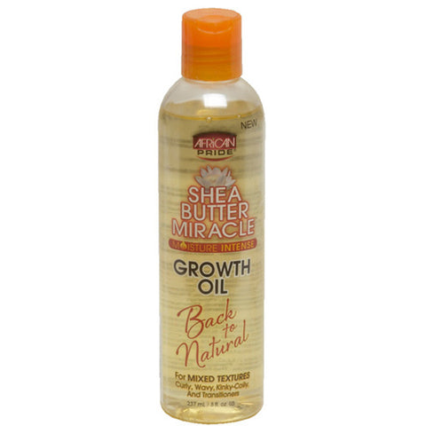 African Pride Shea Butter Miracle GROWTH OIL 8 OZ
