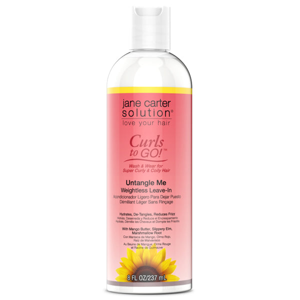 Jane Carter Solution Curls To Go UNTANGLE ME Weightless Leave-In 8 Oz