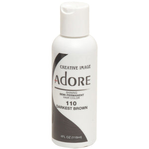 Adore Semi Perm 110 DARK BROWN 4 Oz - Hair Color - Express Beauty USA