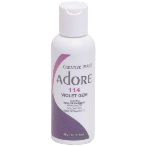 Adore Semi Perm 114 VIOLET GEM 4 Oz - Hair Color - Express Beauty USA